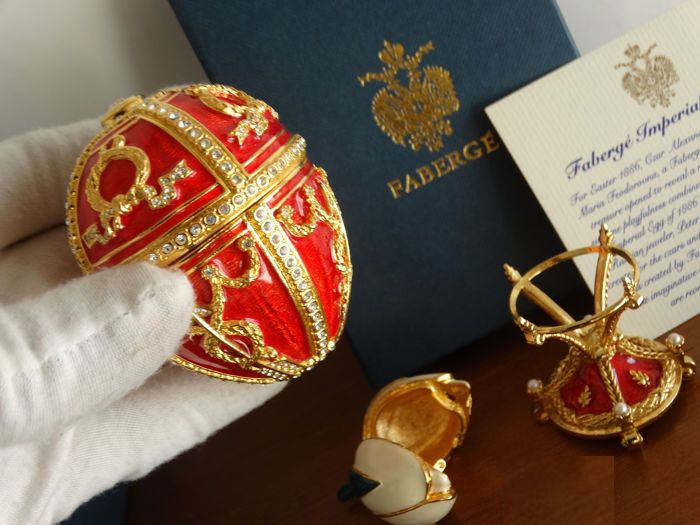 Fabergé - Authentic Faberge Imperial egg - 24 k gold finished with over 200 Swarovski Rhinestones