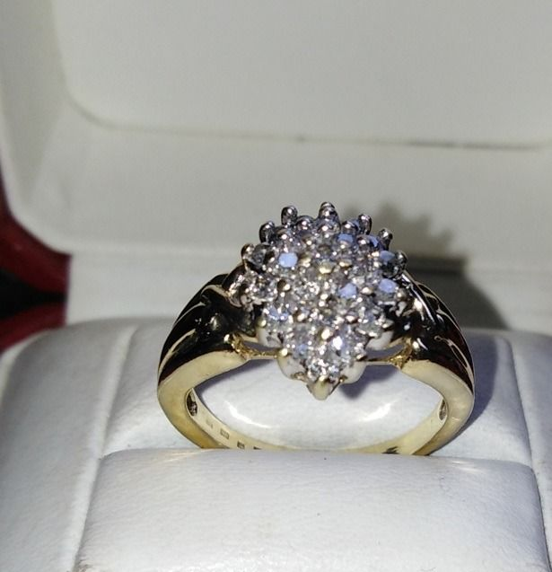14 kt. Gold - Ring Diamond - Diamonds