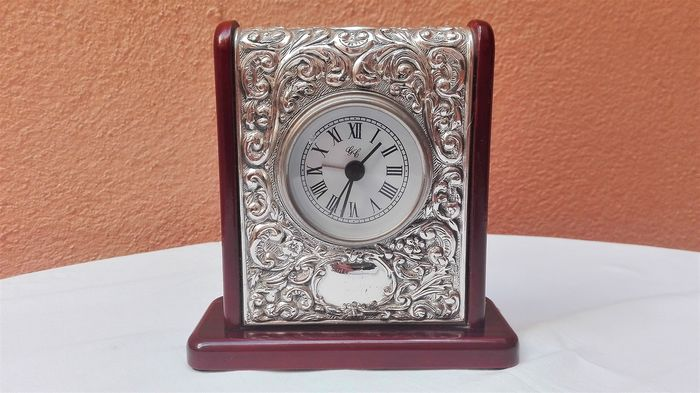 Table Clock - .925 silver