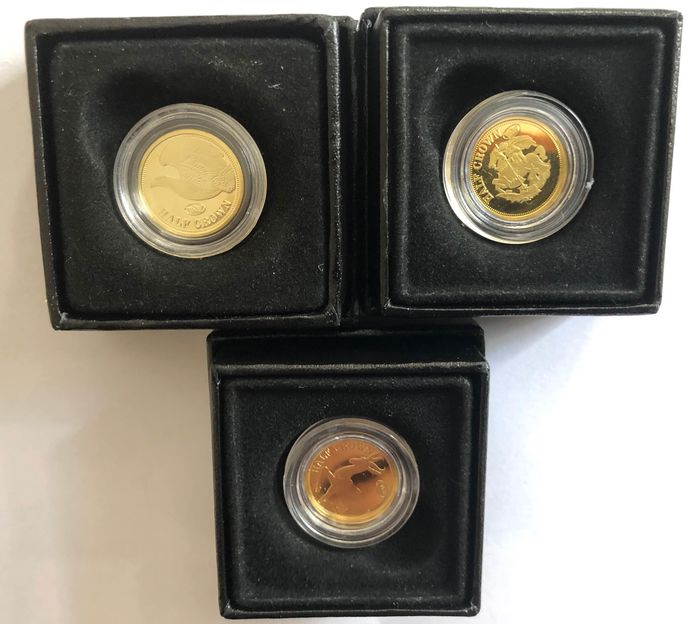 Great Britain - Half Crown Each Gold Coin ( Set of 3) 2009 - Gold