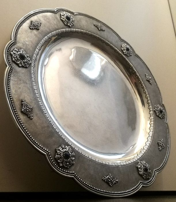 Art Deco Plate Museum - .800 silver - Mario Buccellati - Italy - Early 20th century