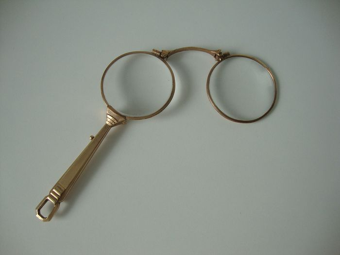 Glasses with handle - probably brass or similar
