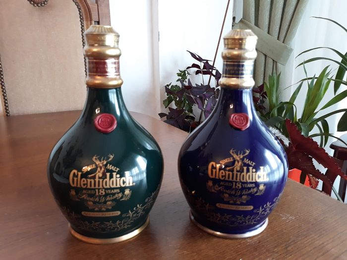 Glenfiddich 18 years old Ancient Reserve - b. 1990s - 0.7 Ltr - 2 bottles