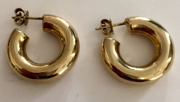 14 karat Yellow gold - creole earrings