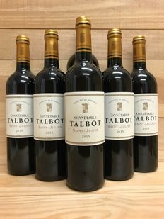2015 Connétable Talbot, 2nd wine Ch. Talbot - Saint-Julien - 6 Flaskor (0,75L)