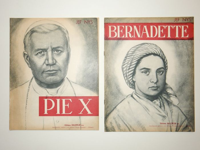 Nys, Jef-  Pie X + Bernadette - Franstalig - Softcover - First edition - (1958/1959)