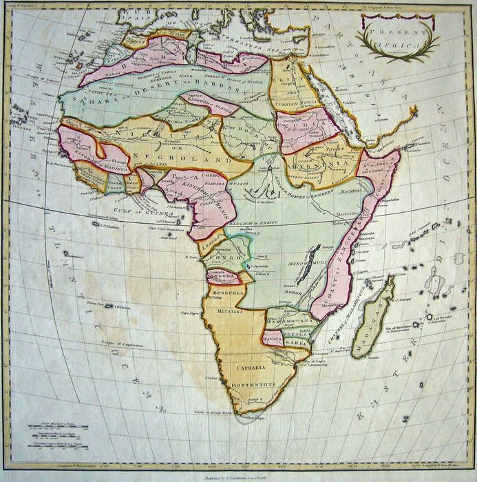 Map Of Africa In 1800.Africa Stockdale Present Africa 1781 1800 Catawiki