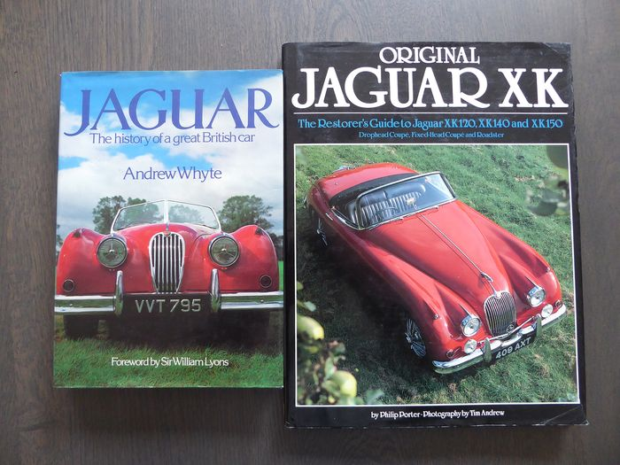 Boeken - Jaguar - Lot; The history of a great British car and Original Jaguar XK - 1980-1988