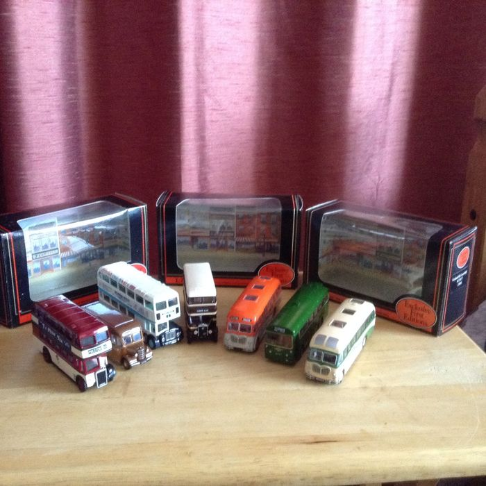 Exclusive First Editions - 1:76 - Lot with 7 model buses