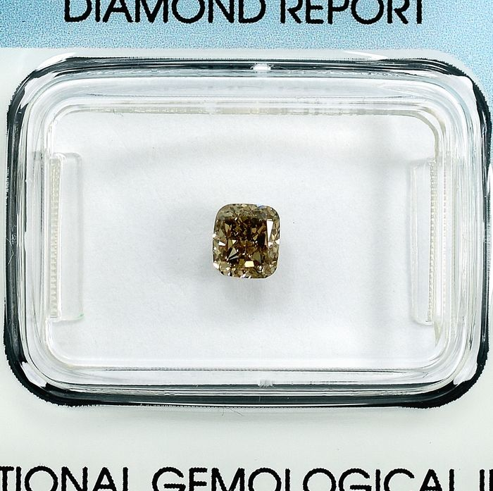 Diamant - 0.50 ct - Coussin - Y-Z,Light Yellowish Brown - Si2 - NO RESERVE PRICE