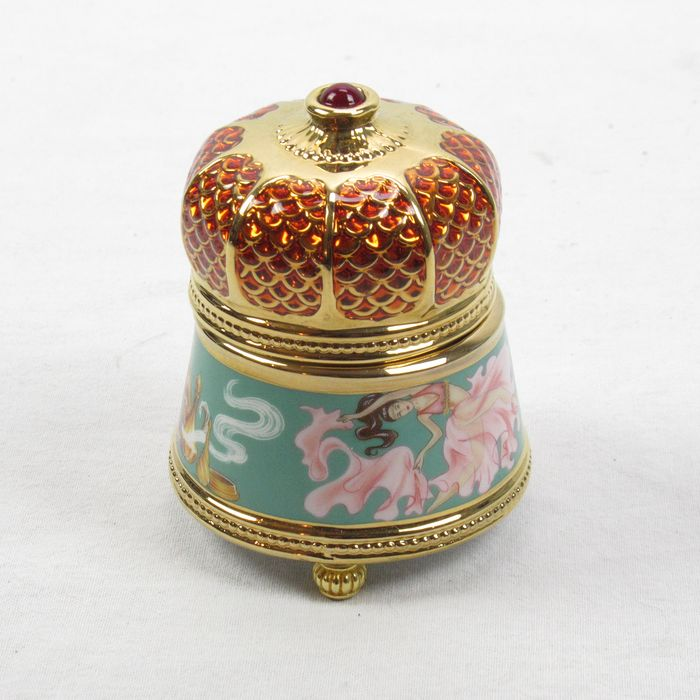 "Fabergé, Franklin Mint - Fabergé Music box ""Scheherazade"" - Goldplate, Porcelain, Enamelled"