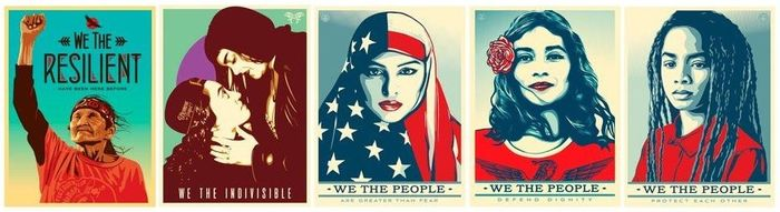 Shepard Fairey (OBEY) - We The People Print Set + We The Future Set + Bonus