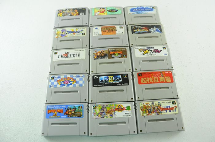 Nintendo Famicon (Jap Nes) - Famicom games inc. Wrestle mani, power monger, Donkey Kong & more e.a (15) - Sin la caja original
