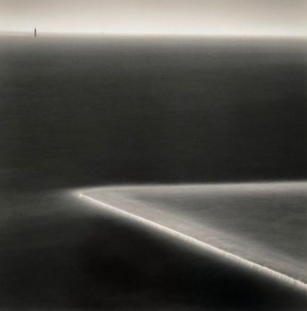 Michael Kenna (1953-)  - Pool outline, St Malo, Brittany, France, 2003