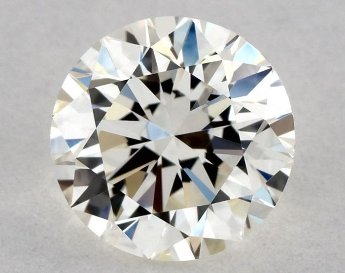Diamond - 0.70 ct - Brilliant, Round - J - IF (flawless), * VG/EX/VG *, Low Reserve Price + Free Shipping