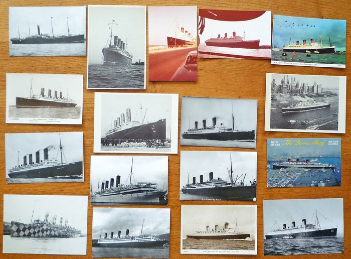Most British, but also other countries - Merchant ships - Postcards and photographs (Collection of 130) - 1920-1980
