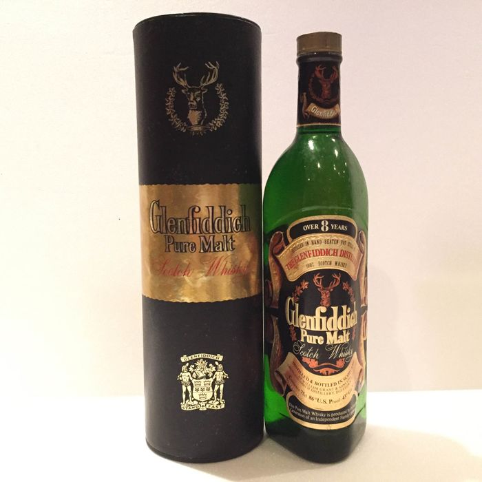Glenfiddich 8 years old Pure Malt - Official bottling - b. 1970s - 75cl
