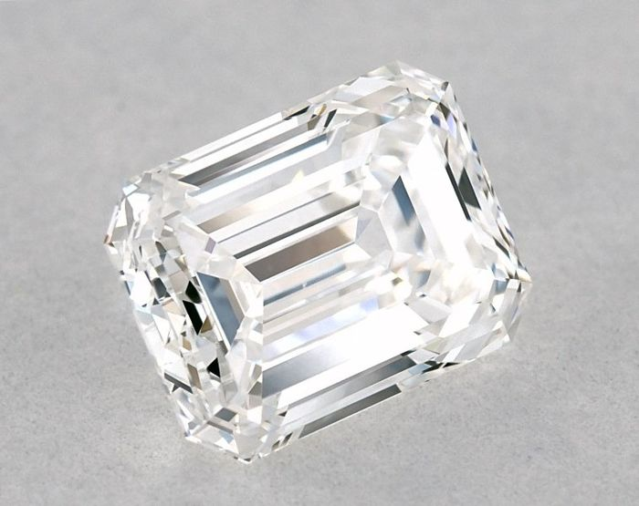 Diamond - 0.81 ct - GIA Certified, Emerald - E - VVS2, LOW RESERVE PRICE + FREE D2D SHIPPING