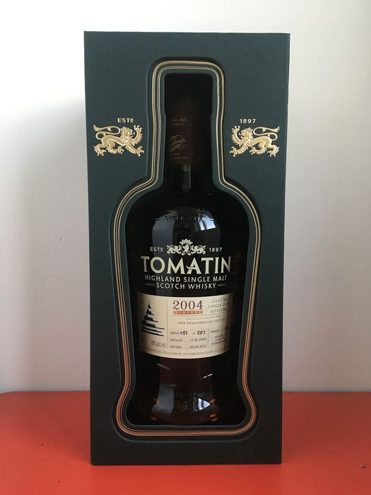 Tomatin 2004 Single Cask for the The Usquebaugh Society - Official bottling - 70 cl