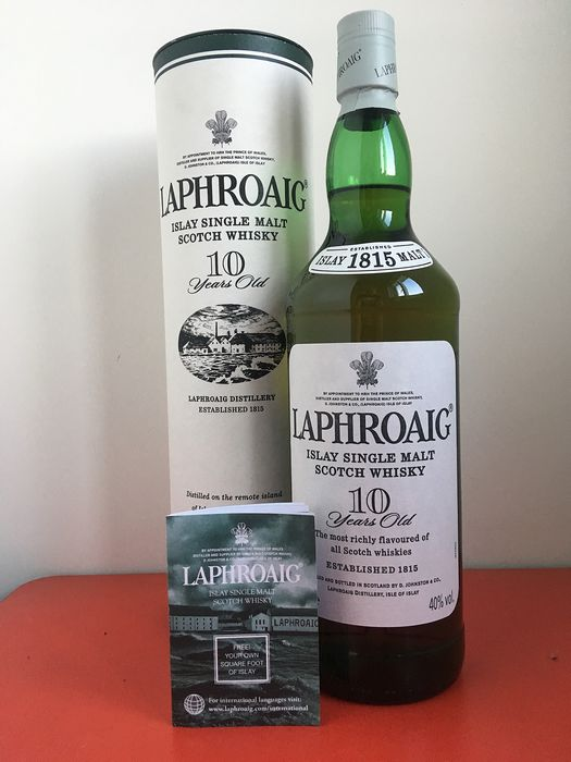 Laphroaig 10 years old - Original bottling - b. Jaren 2000 tot heden - 1,0 Liter
