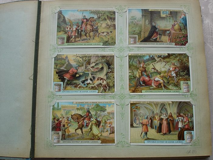 Liebig - Nice old album with 50 older series (300 chromolitho's) (1) - Paper