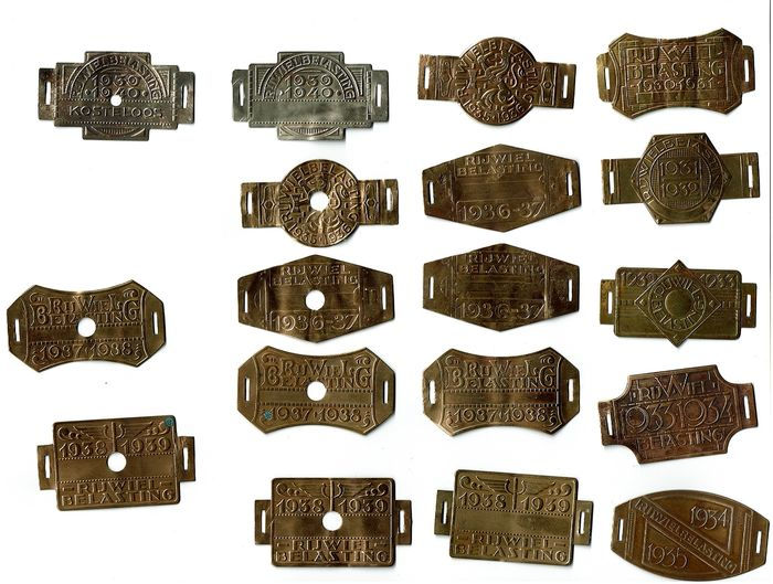 bicycle load plates (18) - Brass