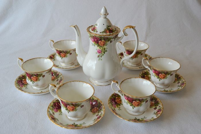 Royal Albert 'Old Country Roses' - Coffee set (15) - Porselein