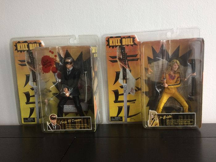 Kill Bill - Tarantino - Set of 2 Neca action figures (The Bride & Crazy 88 Director)  the bride and the crazy 88 director