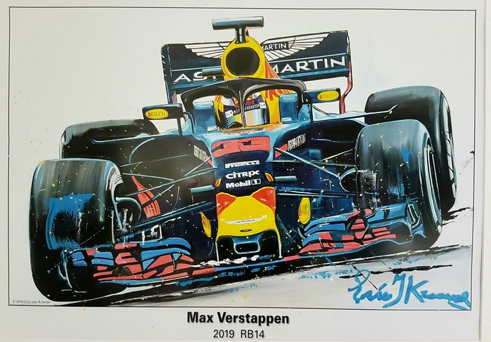 Red Bull - Formula One - Max Verstappen - 2018 - Artwork, Lithography