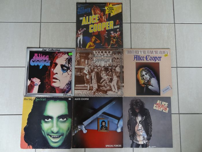 Alice Cooper - Special forces - Greatest hits - star collection - Toronto Rock`n roll - AC show - Trash - Múltiples títulos - LP - 1971/1989