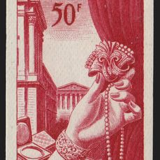 Frankrijk 1954 - Jewellery, unissued project, imperforate proof - Yvert n° 973A