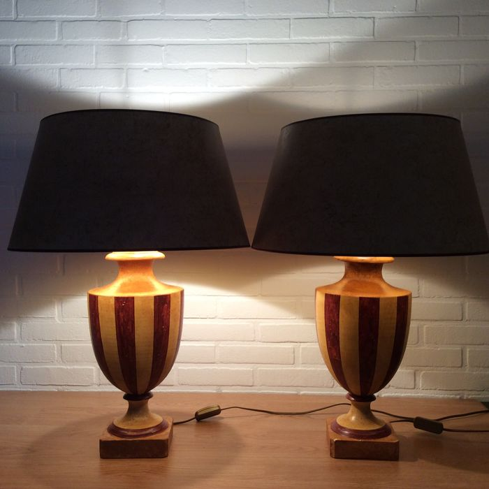 Large table lamps - Composite, Plaster