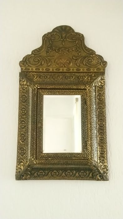 Beautiful large latin copper hall mirror - Copper, Glass