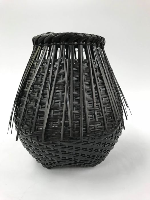Bamboo Flower Ware - Bamboo - Beautiful Bamboo Flower Basket - Japan - Late 20th century(1970)