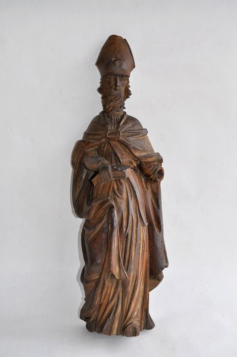Sculpture, Bishop statue - 47 cm - Wood - Late 18th century