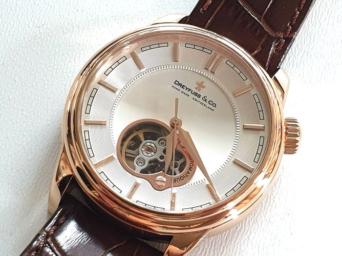 Dreyfuss & Co. - Automatique Swiss Made Genuine Leather Strap - DGS00093/02 - 18K Gold Plated - 男士 - 2011至现在