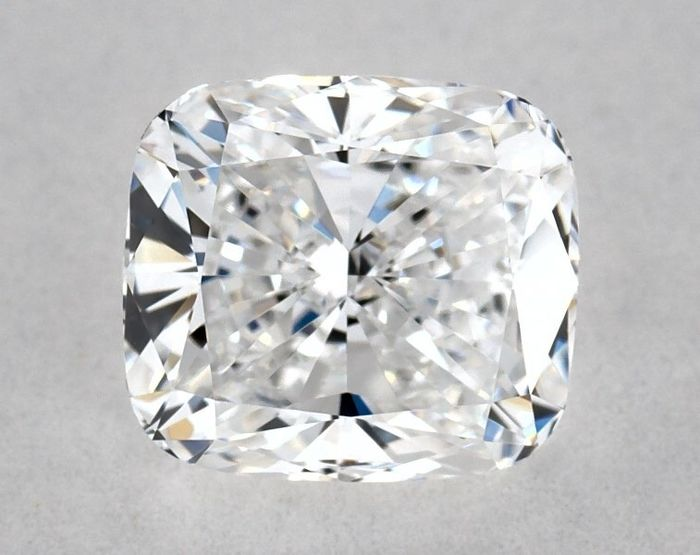 1 pcs Diamant - 0.82 ct - Brillant, Kissen - D (farblos) - VVS2, * EX/VG *, Low Reserve Price + Free FedEx Shipping