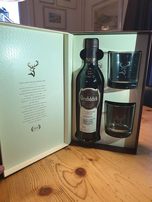 Glenfiddich Malt Master's Edition Gift pack with glasses - 0.7 升