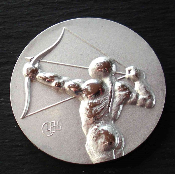 Olympiade Los Angeles 1984 ( Salvador Dali ) - Archery - World Athletes - 1984 - Sports coins