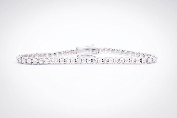 18 quilates Oro blanco - Brazalete - 3.05 ct Diamante
