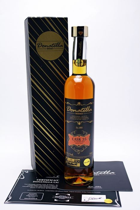 Donatella Whisky 35 years old Cask 35 (1 of 250 bottles) - 50cl