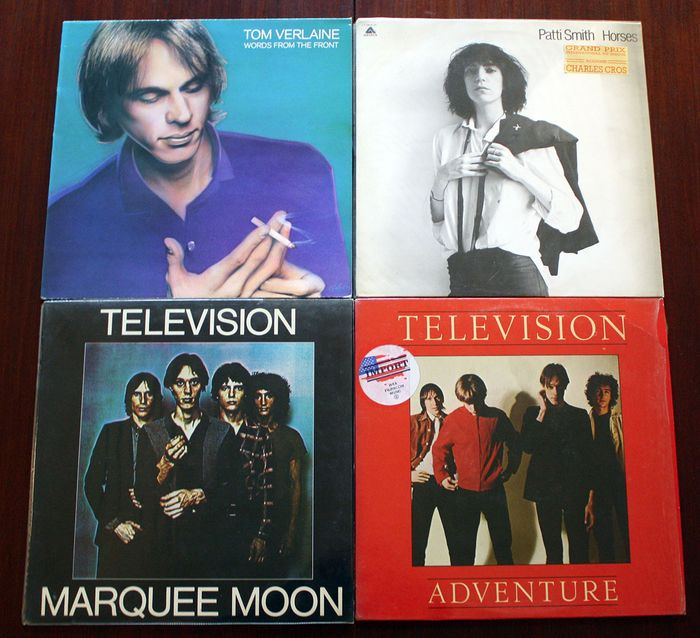 Patti Smith, Television, Tom Verlaine - Multiple titles - LP's - 1975/1982