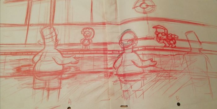 The Simpsons  - Original Animation Drawing VERY RARE - First edition