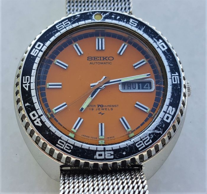 """Seiko - """"NO RESERVE PRICE"""" Rally Automatic Diver - 7006-8030 - Homme - 1980-1989"""