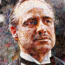 Godfather, the - Marlon Brando / Don Vito Corleone - Glitch ART - Kunstwerk David Vijsma Glitch Art