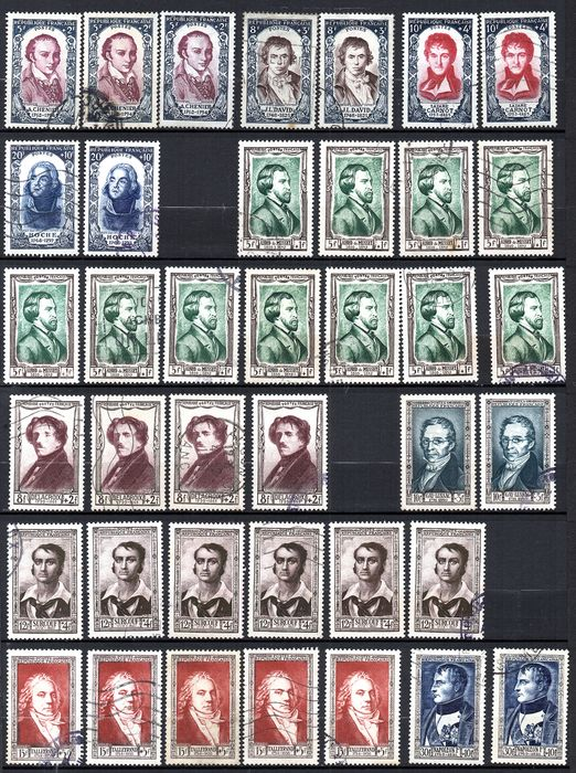 France 19501958 Small Stock Of Postmarked Stamps Of