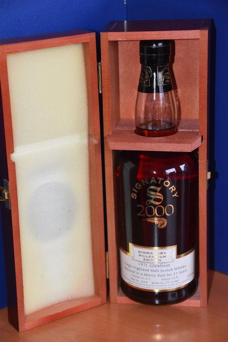Glenlivet 1971 27 years old Sherry Butt - Millennium Edition - Signatory Vintage - b. 1999 - 70cl