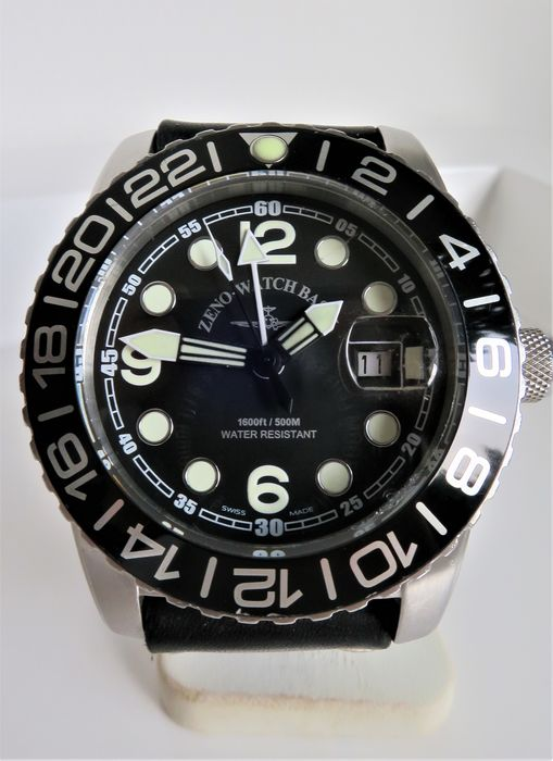 "Zeno-Watch Basel - GMT 500m Diver - 6349.515.24H - ""NO RESERVE PRICE"" - Homme - 2011-aujourd'hui"