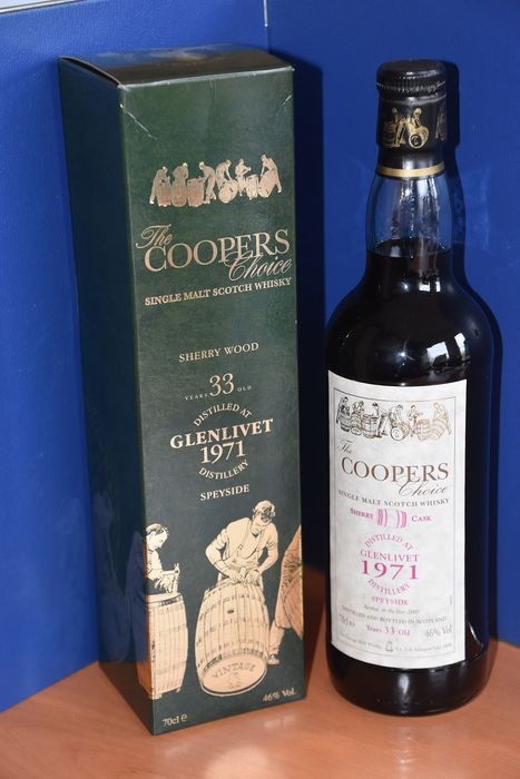 Glenlivet 1971 33 years old Sherry Cask - The Coopers Choice - b. 2005 - 70cl