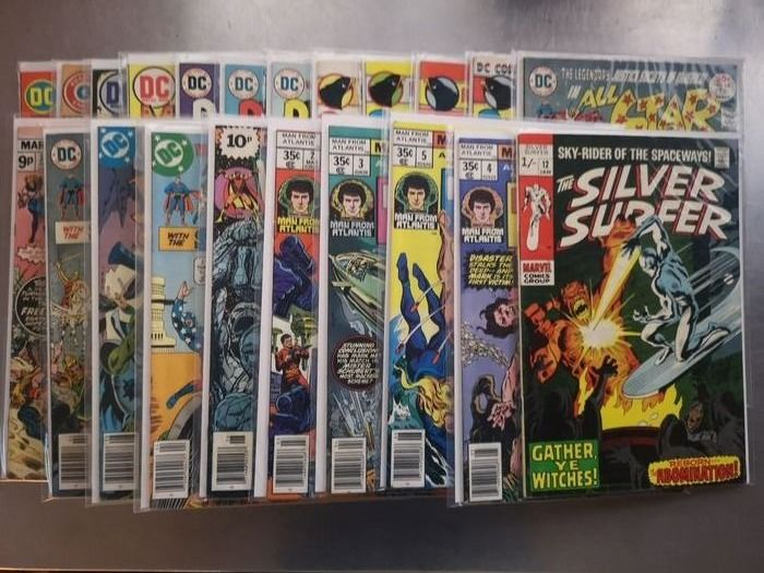 SILVER SURFER PLUS 21 MORE TITLES - 22 COMICS FROM THE SILVER AND BRONZE AGE - Geniet - UK PRICE EDITION / US VERSIE